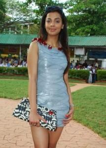 Mugdha Godse Short Dress Beauty Still