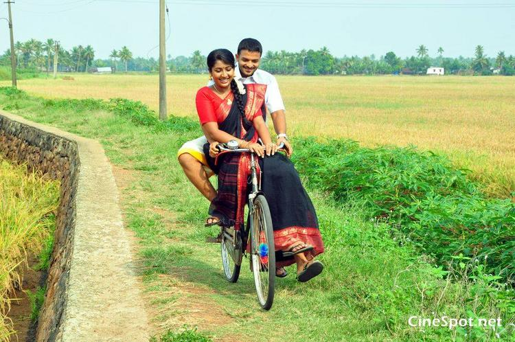 Navya Nair Cute Bicycle Still