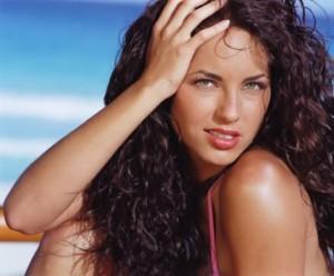 Barbara Mori Curly Hair Romantic Look Wallpaper