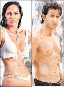 Barbara Mori and Hrithik Roshan Sexiest Wallpaper