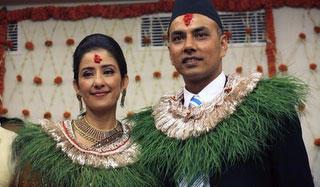 Manisha Koirala and Samrat Dahal Beauty Still