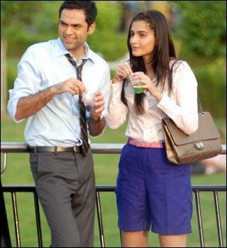 Abhay Deol with Sonam in Aisha