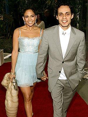 Jennifer Lopez and Marc Anthony On Red Carpet