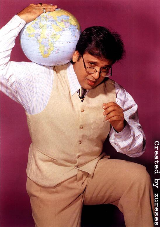 Govinda holding a Globe pics