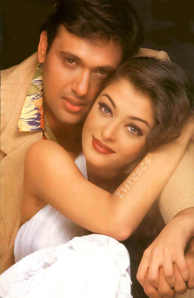 Aishwarya and Govinda Romantic scenes pics