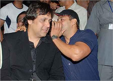 Govinda and Salman Khan at Anil Sharma's APNE Music Release