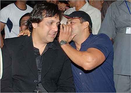 Govinda and Salman Khan at Anil Sharma's APNE Music Release