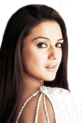 Beautiful Women Preity Zinta Side Face Wallpaper