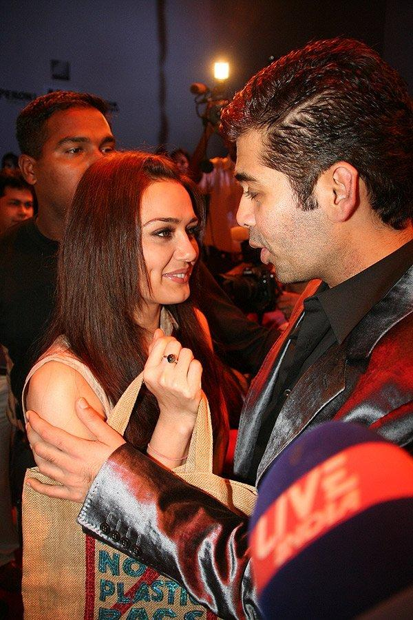 Preity Zinta With Karan Johar