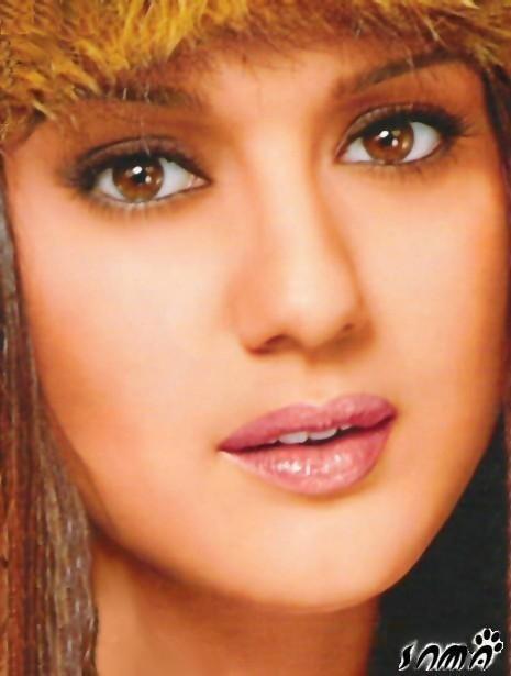 Preity Zinta Wet Lips and Glazing Eyes Wallpaper