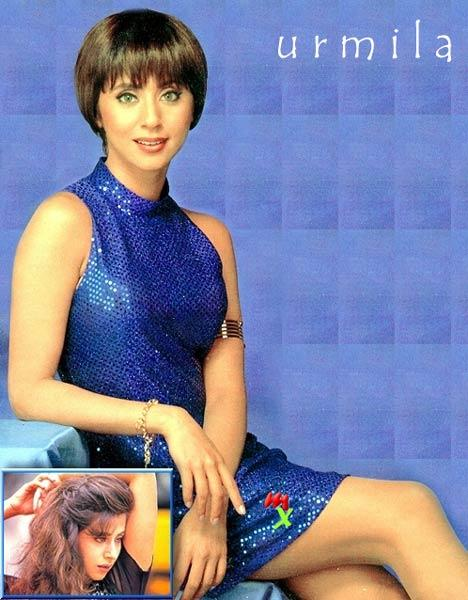 Urmila Matondkar Blue Dress Modern Look Wallpaper