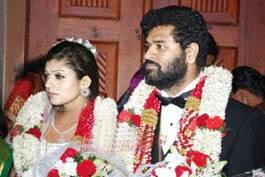 Nayanatara and Prabhu Deva Wedding Wallpaper