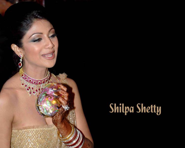 Shilpa Shetty smilling