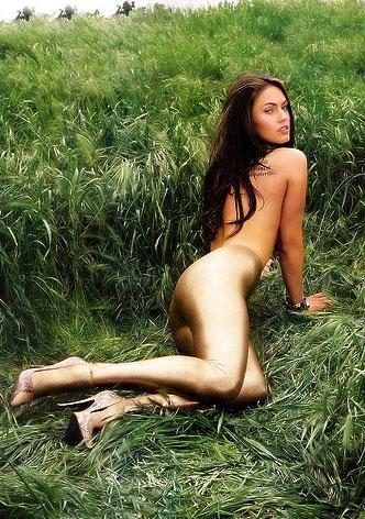 Megan Fox No Clothes and Topless Wallpaper