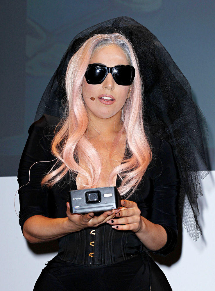 Lady Gaga Cute Photo With Camera