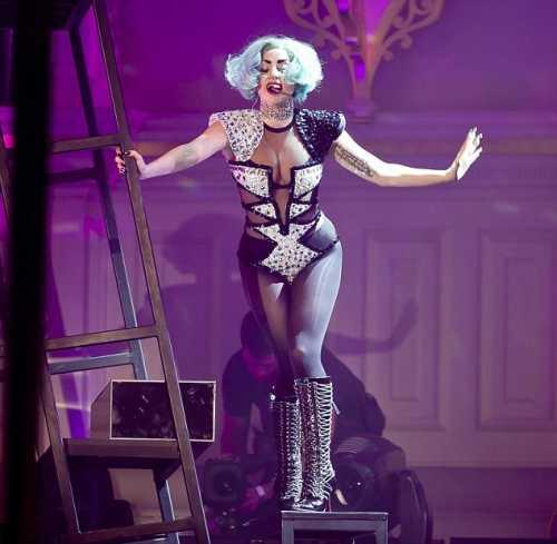 Lady Gaga at the Sydney Town Hall in Australia