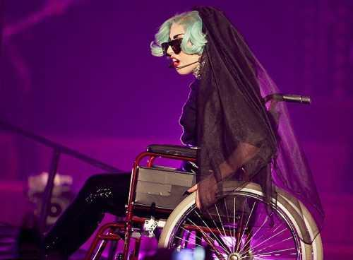 Lady Gaga on Wheelchair in Sydney Town