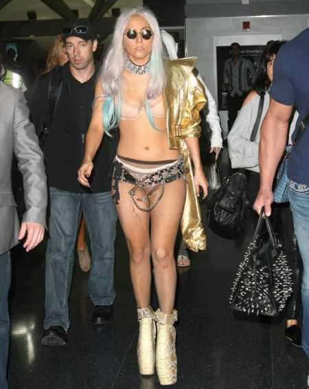 Lady Gaga Bikini Dress Public Picture