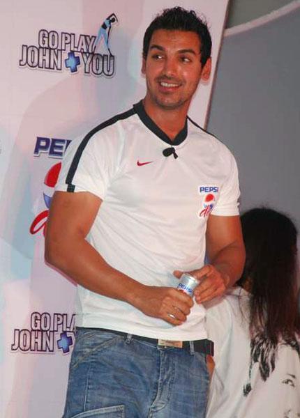 John Abraham White T Shirt Smile Face Look