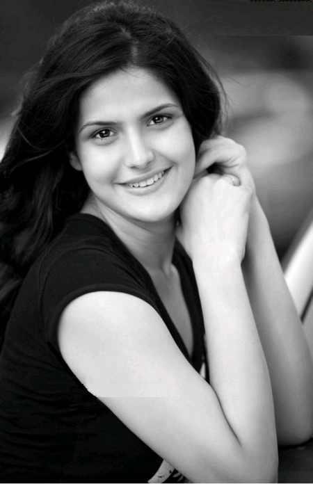 Zarine Khan Black and White Photo