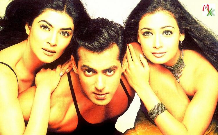 Salman,Sushmita and Diya Mirza Glamour Wallpaper