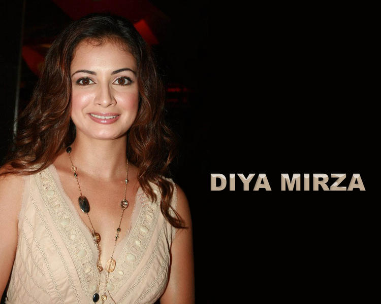 Diya Mirza Gorgeous Face Look Wallapper