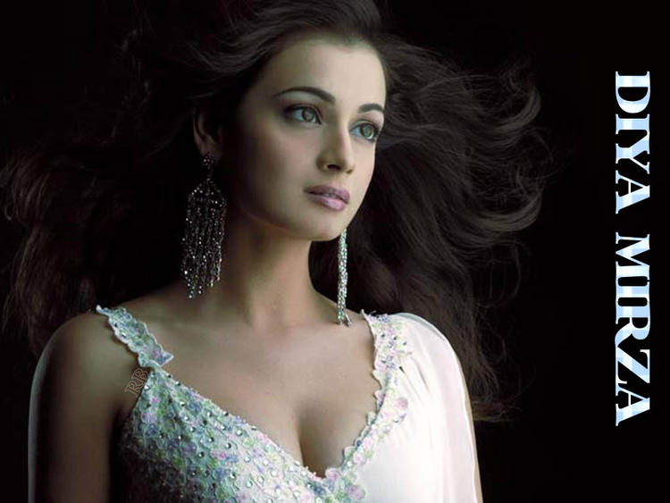 Diya Mirza Sexy Awesome Face Look Wallpaper