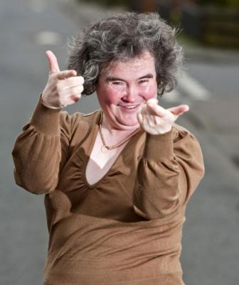 Susan Boyle Latest Cute Face Look