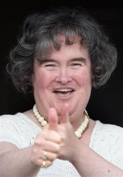 Susan Boyle Hair Style Face Look