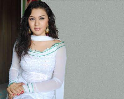 Hansika Motwani White Dress Sizzling Photo