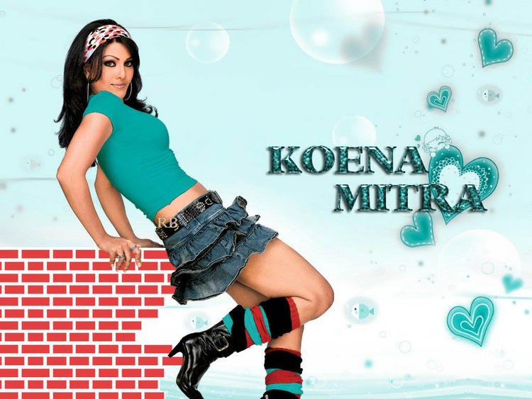 Koena Mitra Green Dress Sexy Pose Wallpaper