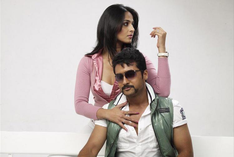 Surya and Anushka Yamudu Movie Still