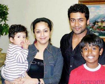 Surya and Jothika With Baby