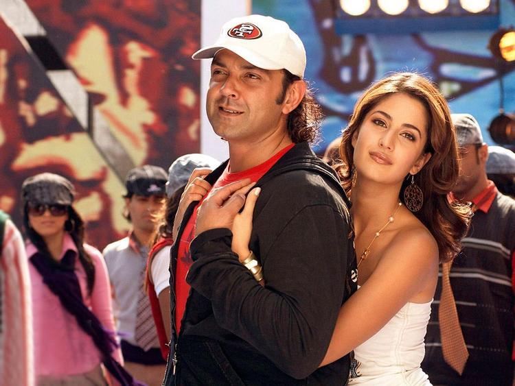 Katrina Kaif with Bobby Deol Still