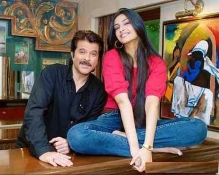 Anil Kapoor with Sonam Kapoor