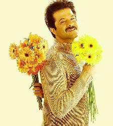 Anil Kapoor with beautiful flawers