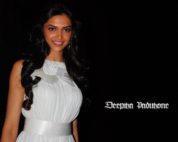 Deepika Padukone White Dress Beauty Smile Wallpaper