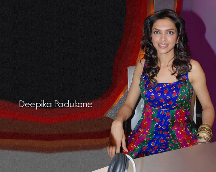 Deepika Padukone Blue Color Dress Wallpaper