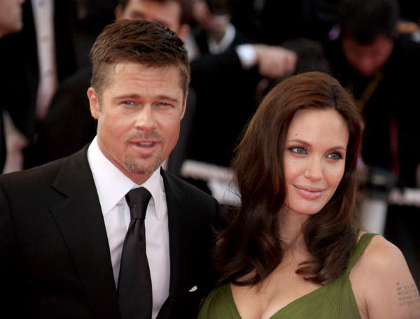 Brad Pitt and Angelina Jolie Public Photo