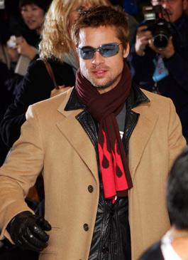 Brad Pitt Blazer Public Photo