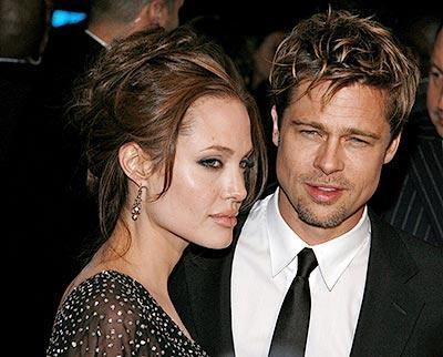 Brad Pitt and Angelina Jolie Glamour Photo