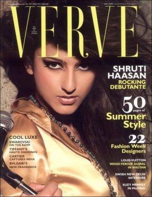 Shruti Haasan Verve Magazine Still