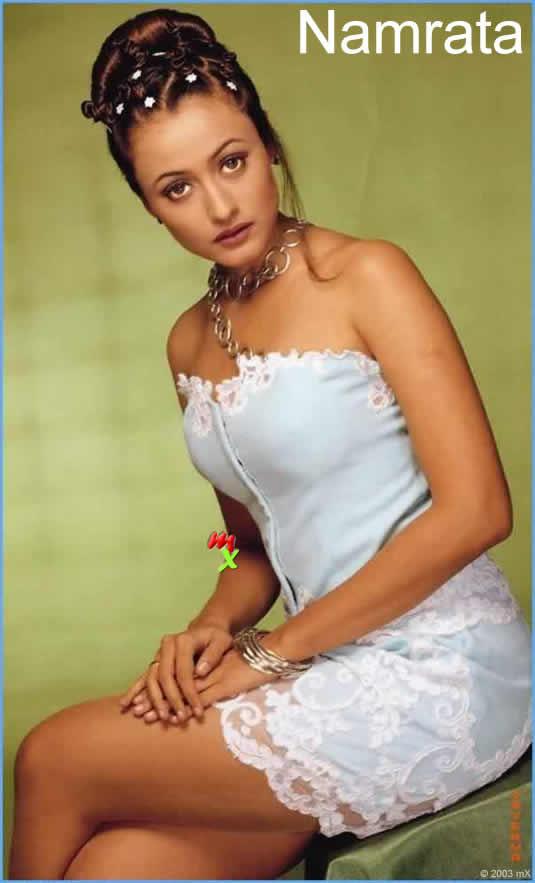 Namrata Shirodkar looking hot in white dress