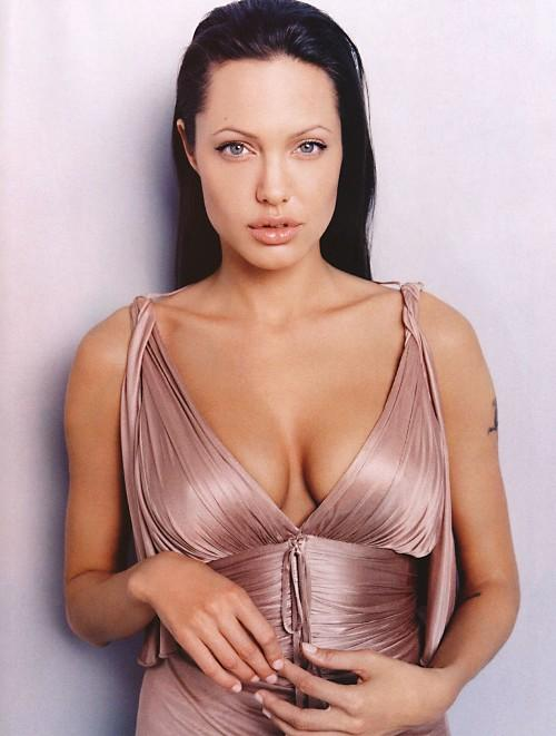 Angelina Jolie Sexy Cleavages Show Photo Shoot