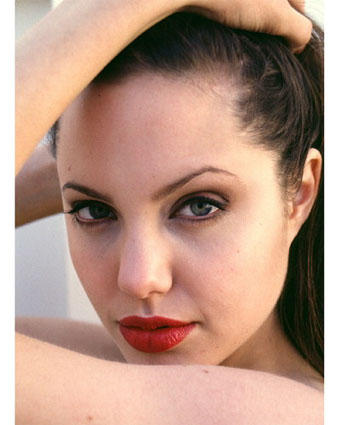 Angelina Jolie Wet Red Lips Latest Pic