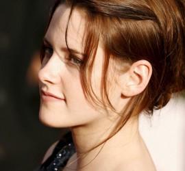 Kristen Stewart Black Mix Red Hair Side Face Look