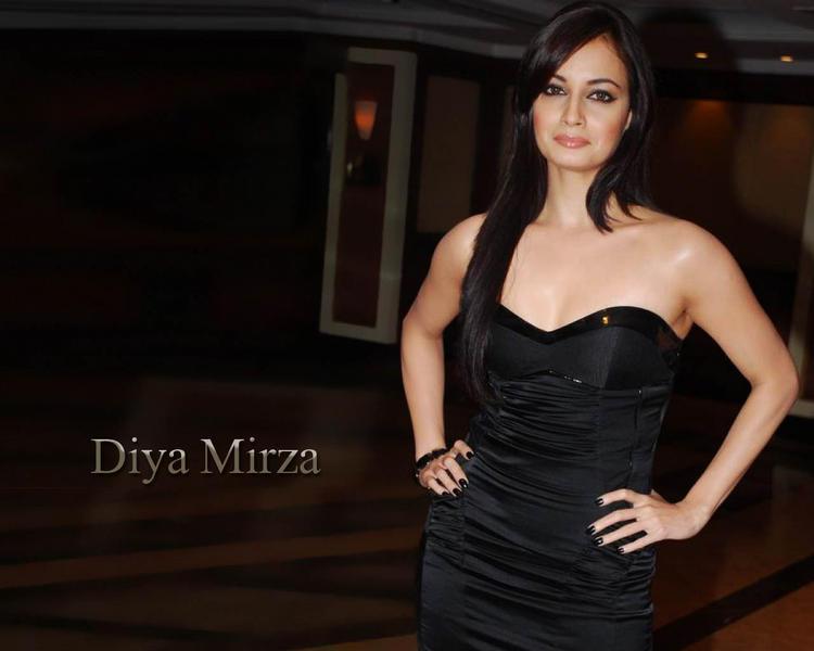 Diya Mirza Sleeveless Dress Glamour Still