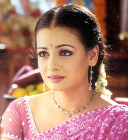 Diya Mirza Pink Saree Beauty Still