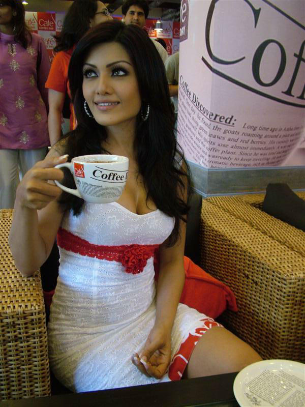Koena Mitra White Mini Dress Still
