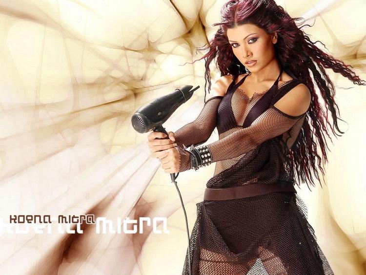 Koena Mitra Sexy Boob Show Wallpaper